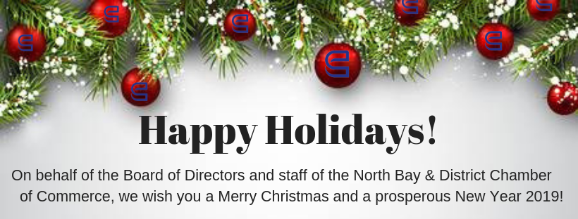 Merry Christmas To All.North Bay And District Chamber Of Commerce Merry Christmas