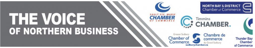 The Voice of Northern Business - Chamber of Commerce Northern Ontario Logo